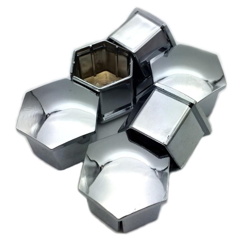 LARBLL 20 unids/lote tuerca de rueda tapa de cubierta central para PEUGEOT 3008 2008 508 408 308 307 plata 17MM