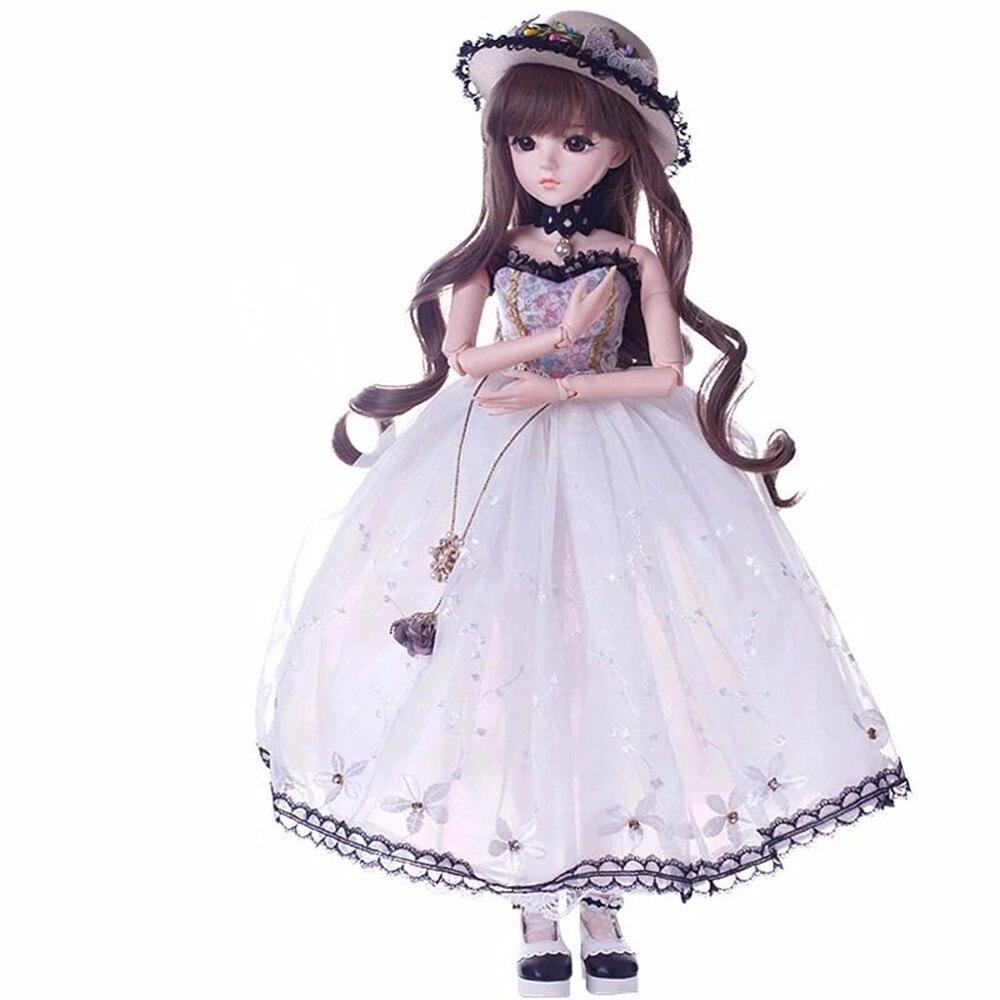 BJD Dolls Silicone Rebron Baby Dolls Newborn Baby 23 inch Realistic Princess 60cm Kids Playmates Handmade Jointed Doll