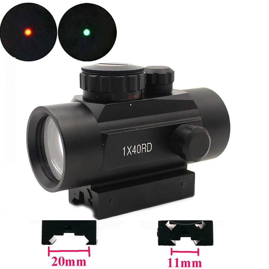 Mira holográfica 1x40 punto rojo mira telescópica punto rojo verde alcance caza 11mm 20mm carril montaje colimador mirilla-YZRD40