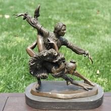 Ballet dance music sculpture series copper sculpture decoration decoration gift Home Furnishing Craft Hotel
