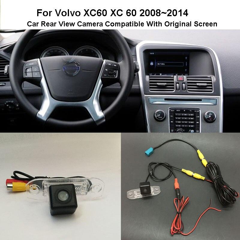 Thehotcaks para Volvo XC60 XC 60 2008 ~ 2014 RCA y pantalla Original Compatible, cámara de Vista trasera de coche, cámara de marcha atrás, juegos de cámara