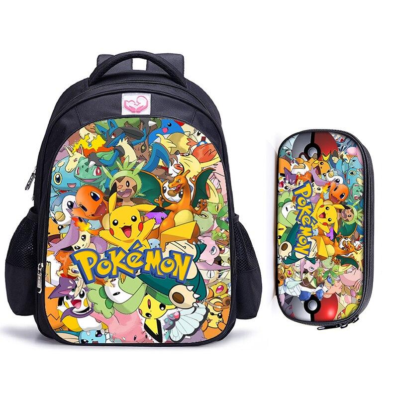 16 Inch Pokemon Haunter Eevee Children School Bags Orthopedic Backpack Kids School Boys Girls Mochila Infantil Catoon Bags