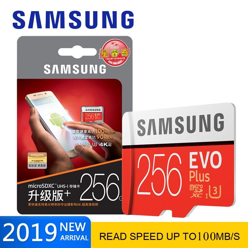 Original SAMSUNG micro sd Memory Card 64GB EVO+ U3 128GB 256GB 512gb Class10 Micro SD Card 32GB microSD UHS-I TF Card for phone