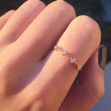 Japan Und Südkorea Strass Ringe Für Frauen Silbrig Goldene Ringe Frische Hochzeit Weiblichen Charme Knuckle Ring Kristall Schmuck