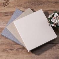 16Inch Handmade Scrapbook Albums DIY Wedding Baby Photo Albums Scrapbook Linen Cover 20 Pages Kraft Album For Photos Sticky Type
