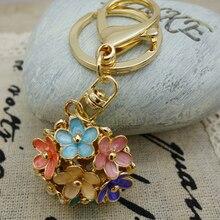 Adojudaïello bijoux exquis fleur boule porte-clés porte-clés pour voiture sac à main Chram porte-clés en gros