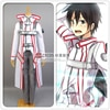 Épée Art en ligne Anime Cosplay chevaliers du sang Kirigaya Kazuto Costume blanc ensemble complet manteau + chemise + pantalon + ceinture + brassard + gants
