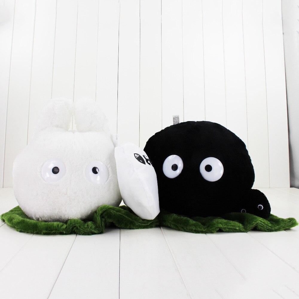 Juguete de peluche Totoro de gran tamaño de 25 cm, hada negra, polvo blanco, Chibi Totoro My Neighbor Totoro Miyazaki Hayao, muñecas de peluche