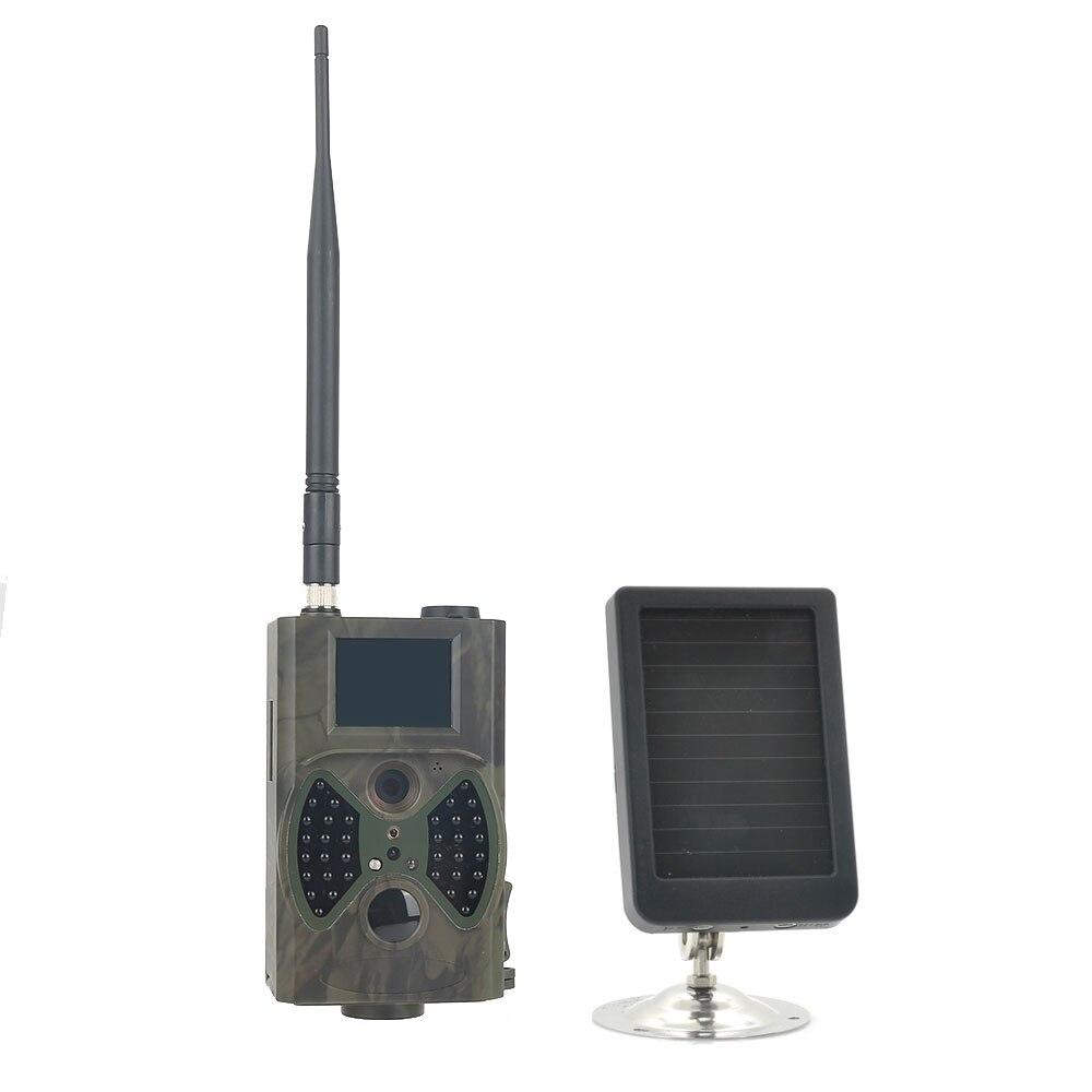 HC300M 940NM visión nocturna infrarroja caza Trail Cámara GSM MMS GPRS con batería de Panel Solar