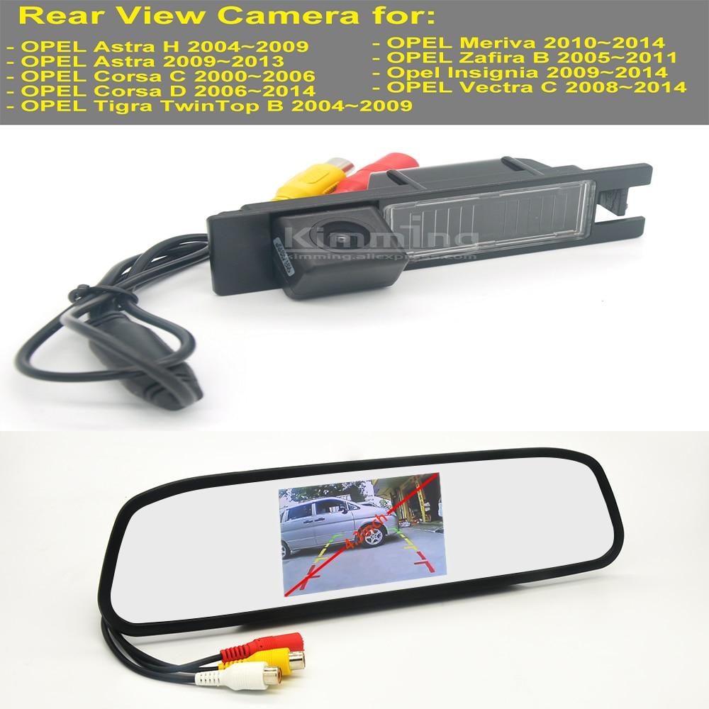 Vista trasera de coche cámara para OPEL Astra Corsa C D Vectra C Meriva Tigra OPC B Zafira B inalámbrica cámara de copia de seguridad espejo kit de pantalla