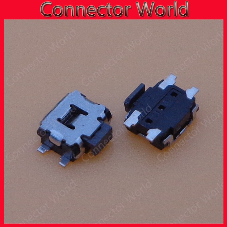 20 unids/lote interruptor de encendido Tecla de botón 4 pin para Nokia N86 5800 5230 N8 N70 N73 C5 5230 N97mini 6700 conector