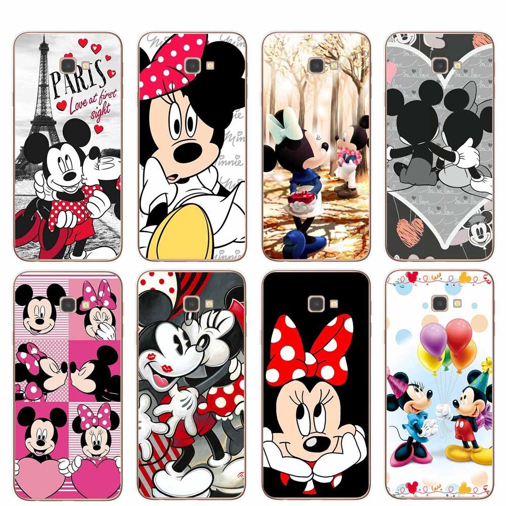 Cute cartoon Minnie Phone Cases for Coque Samsung J3 J5 J7 2016 2017 J4 J6 Plus 2018 Note 8 9 10 Pro Soft TPU Cover Funda Shell