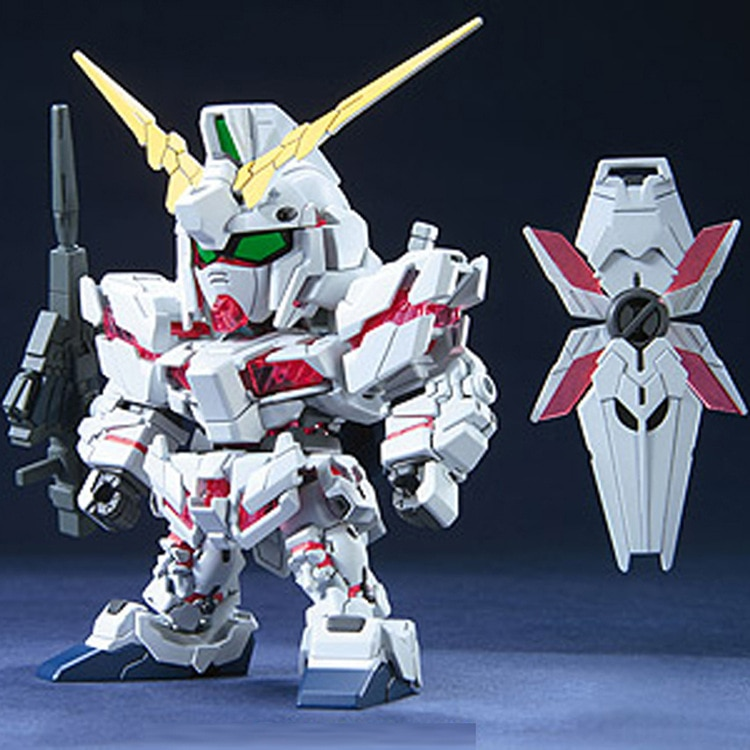 DIY ensamblar Q versión Gundam SD BB Uniknik unicornio Mech Warrior juguetes infantiles educativos ensamblaje de construcción rompecabezas juguetes 9CM