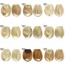 Синтетические волосы на клипсе, стойкие к нагреванию, острая Передняя кисточка для наращивания волос, 30 г, 35 цветов, 1 шт.