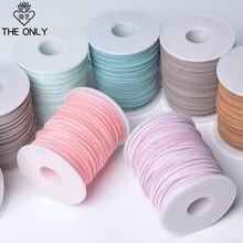 50 YardsX6 Pcs/lot Tassel Material DIY Velvet Belt Leather Rope Ribbon Flowers Fringed Packaging Deerskin Sewing Accessory