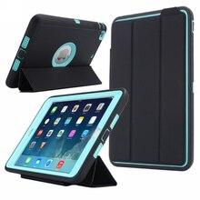 For Apple iPad mini 3 / 2 / 1 Kids Safe Armor Shockproof Full Body Smart Sleep Hard Case Cover W/ Bulit-in Screen Protector