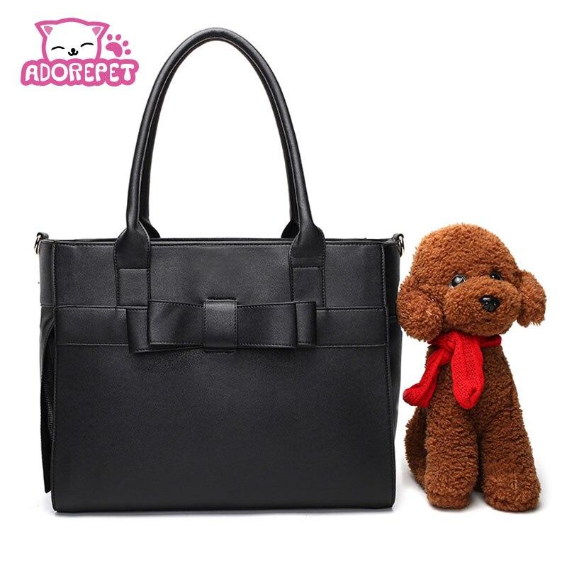 Gato de lujo para perros pequeños, bolsa de viaje portátil de cuero pu para cachorros, bolsa de transporte, bolso de mano, bolso de compras para perros Chihuahua