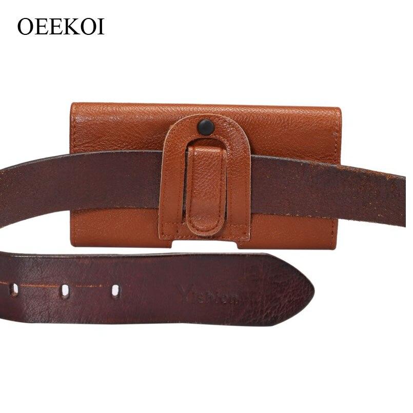 Oekoi cinturón Clip PU cuero cintura titular Flip funda bolsa para Ergo A550 Maxx Dual Sim/SmartTab 3G 5,5 5,5 pulgadas