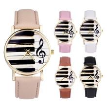 Neue Design Klavier Schwarz Weiß Tastatur Uhr Frauen Musical Note Uhren Männer Casual Uhr montre femme