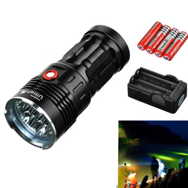 ضوء يدوي Ultrafire XM-L T6 3 وضع 3800LM ، فانوس صيد تكتيكي ، مصباح يدوي 4*18650 ، بطارية