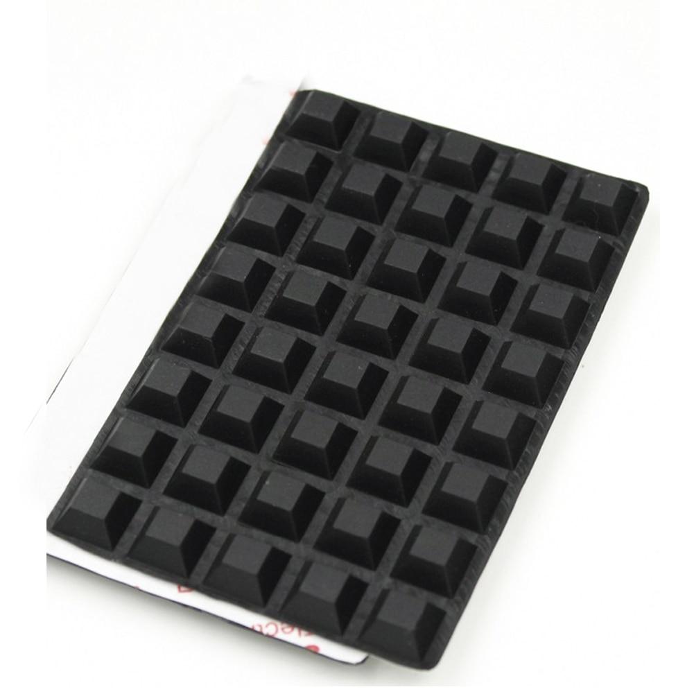 40 pces quadrados auto-adesivo vara de borracha pés pára-choques porta buffer parar almofadas úteis