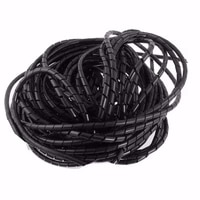 Tube enroule en spirale  fil de cable noir  Kit dorganisation de la gestion PC Home cinema TV  ID 9mm x OD 10mm 33FT  10m