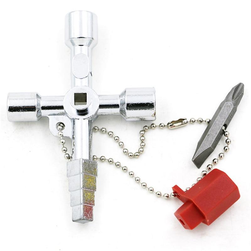 Многофункциональный Универсальный перекрестный ключ Электрический шкаф управления внутри треугольный ключ Лифт счетчик воды клапан ключ