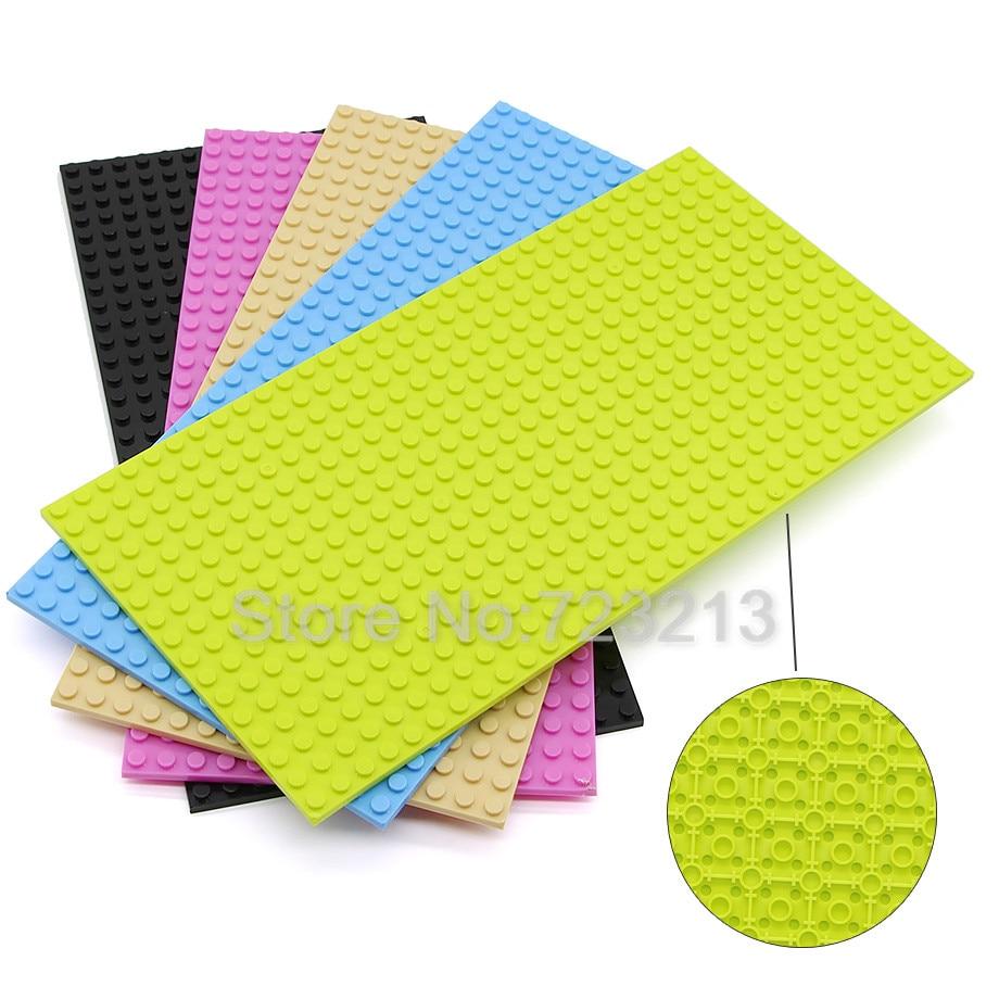 16*32 Dots Basis Platte Bausteine für Kleine Ziegel Zwei-Seite Grundplatte Straße Platte Grundplatte Spielzeug für kinder