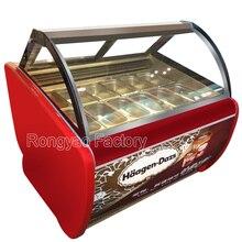 12 casseroles 8 barils 180l glace lunettes daffichage vitrine réfrigérée refroidissement affichage armoires transparentes pour lampe à glace