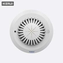 KERUI nouveau détecteur dincendie de fumée haute sensibilité/capteur pour système dalarme à la maison système dalarme incendie capteur de fumée de haute qualité