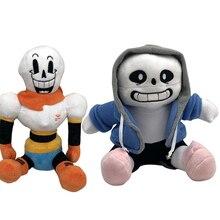 2 pcs/lot Anime 22-25cm sous-conte jouets en peluche sous-conte Sans Papyrus Asriel Toriel peluche jouets poupée pour enfants Childr