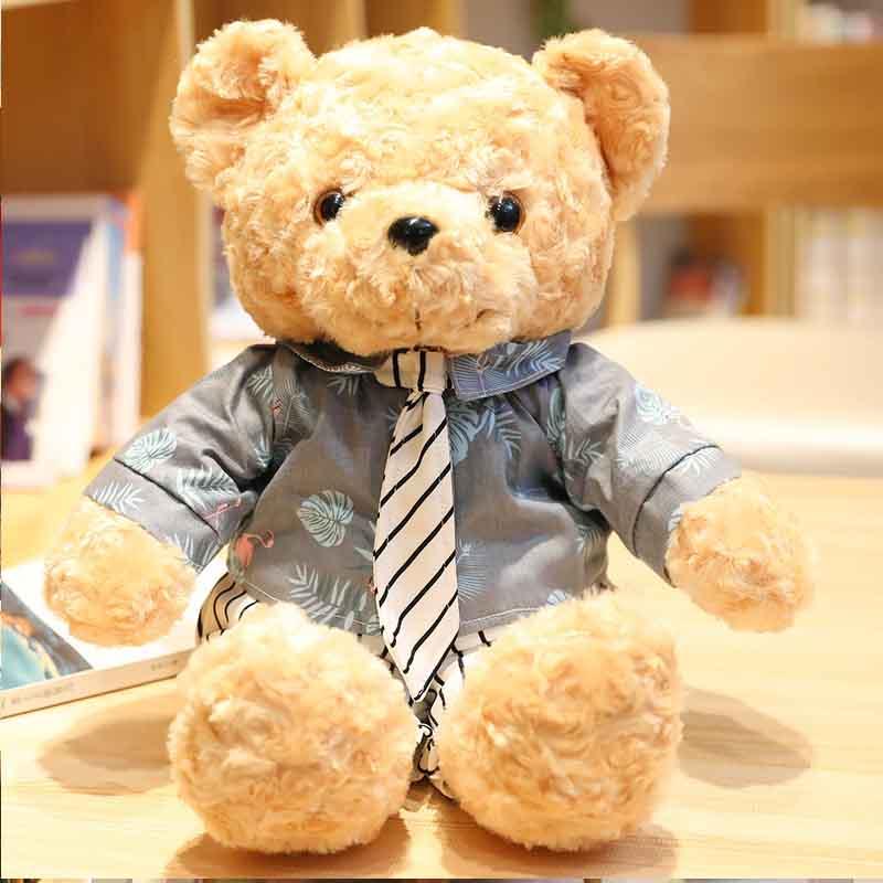 Creativo nuevo par estudiante traje de oso de peluche cachorro de oso de peluche muñeca de peluche de juguete pequeño oso muñeca regalo