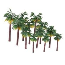 Feuille de palmier plastique forêt tropicale   Diorama, modèle de décor, feuilles de palmier artificielles, haute qualité, 12 pièces