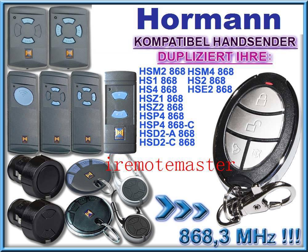 Para transmisor de repuesto de control remoto universal de 868 mhz para Hormann hsz2 hsp4, hsd2, hsm2 hsm4