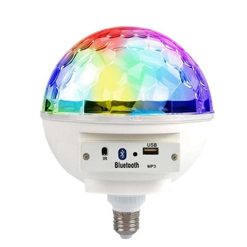 SOLLED Smart E27 85-265V LED 6W colorido Bluetooth LED música ritmo Blub luz para fiesta