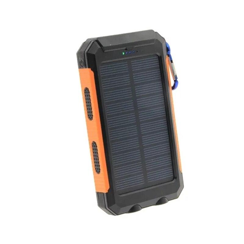 LiitoKala Lii-D007 banco de energía solar portátil 20000 mah para Xiaomi Iphone 2 Powerbank batería externa prueba D dual USB agua