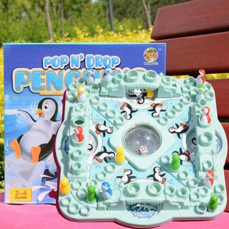 Ajedrez volador de pingüino, ajedrez de salto, dados supergrandes, juguetes educativos interactivos entre padres e hijos, juegos de mesa para niños, juegos de fiesta