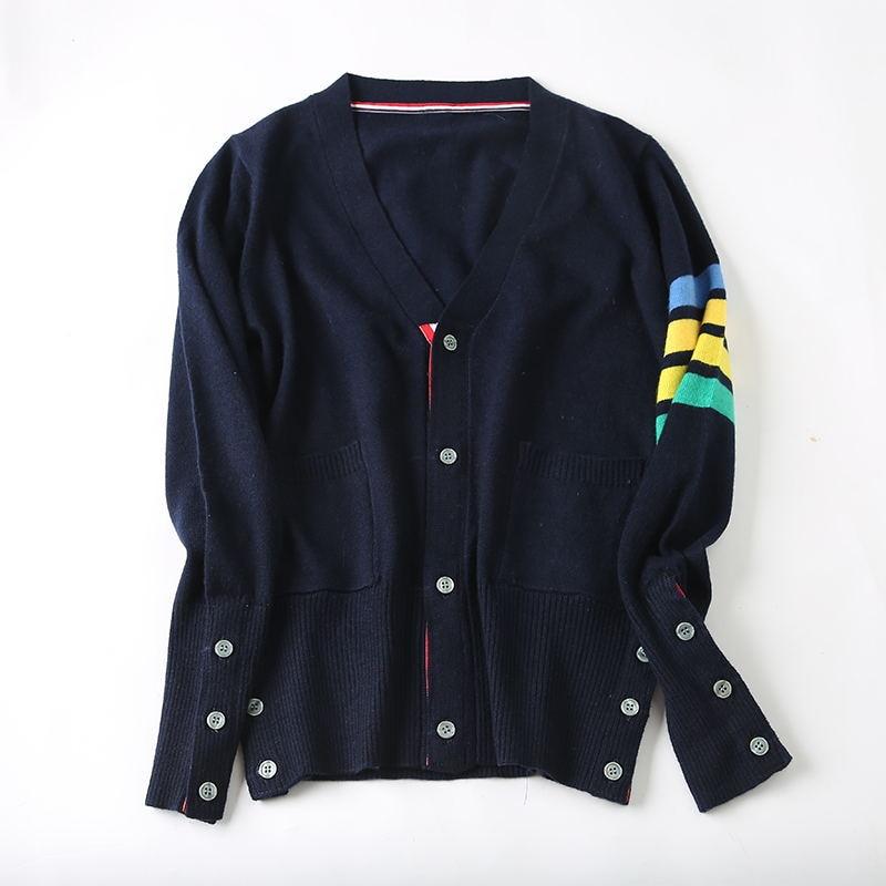 ¡Oferta! suéter de cachemira sweetheart de manga larga estilo TB estilo pareja cárdigan tejidos nuevos cárdigan mujer y hombre suéter