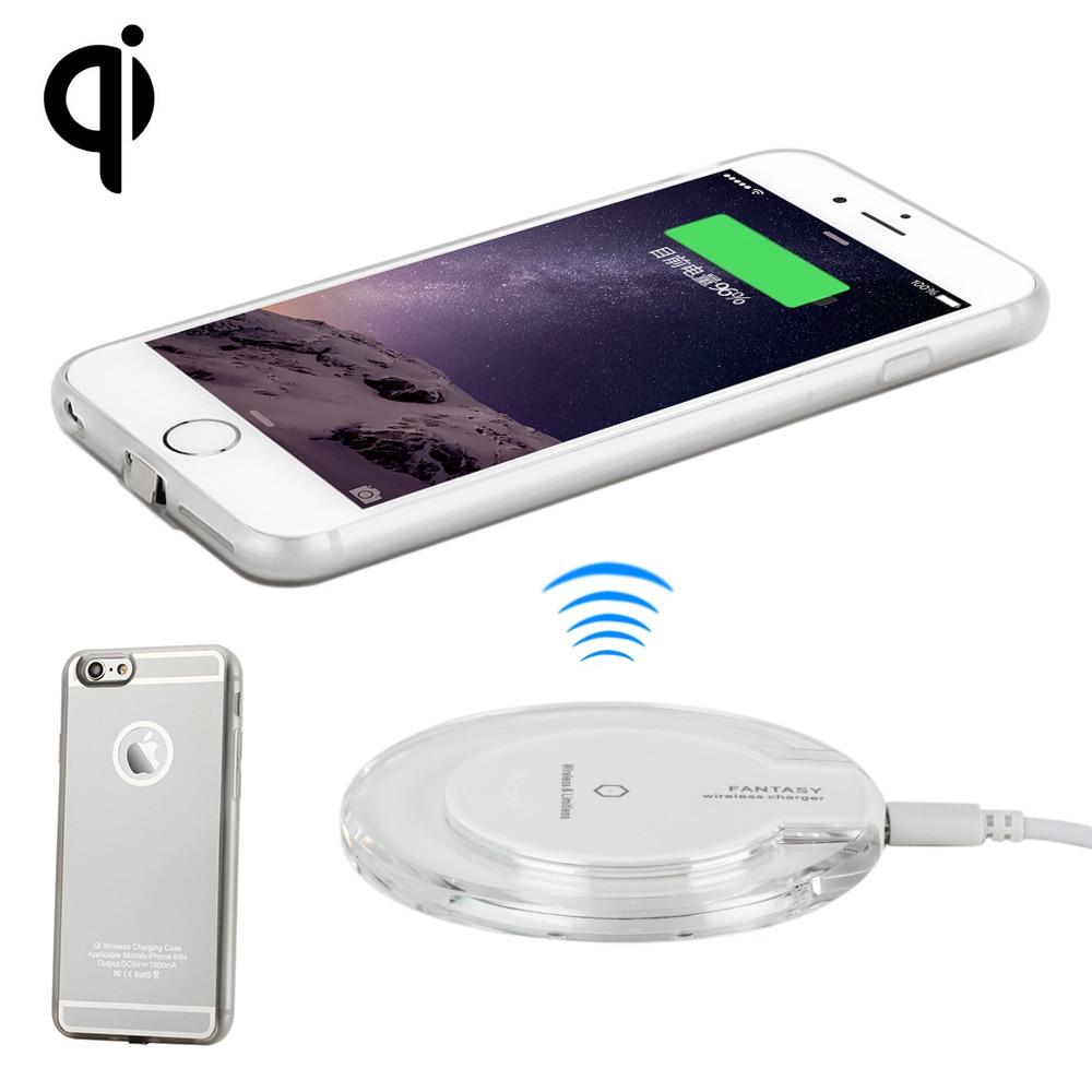 Antye qi kit carregador sem fio para iphone 6 s/6 plus 6 s plus, incluindo qi carregador sem fio almofada e receptor caso