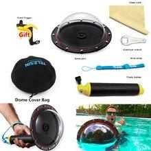 2019 nouveau TELESIN accessoires dôme Port couvercle Transparent + Bobber portable Floaty Bobber pour Gopro Hero 4 3 + 3 support de caméra