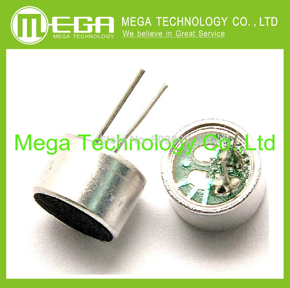 50pcs Electret microphone 9 7mm leaded