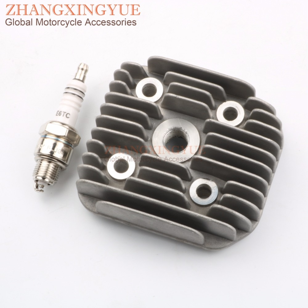 47mm 70cc Yamah Slider Naked 50 Slider 50 AC CT50 NG 50 CW 50 CRZ50 Cylinder head + E6TC spark plugs