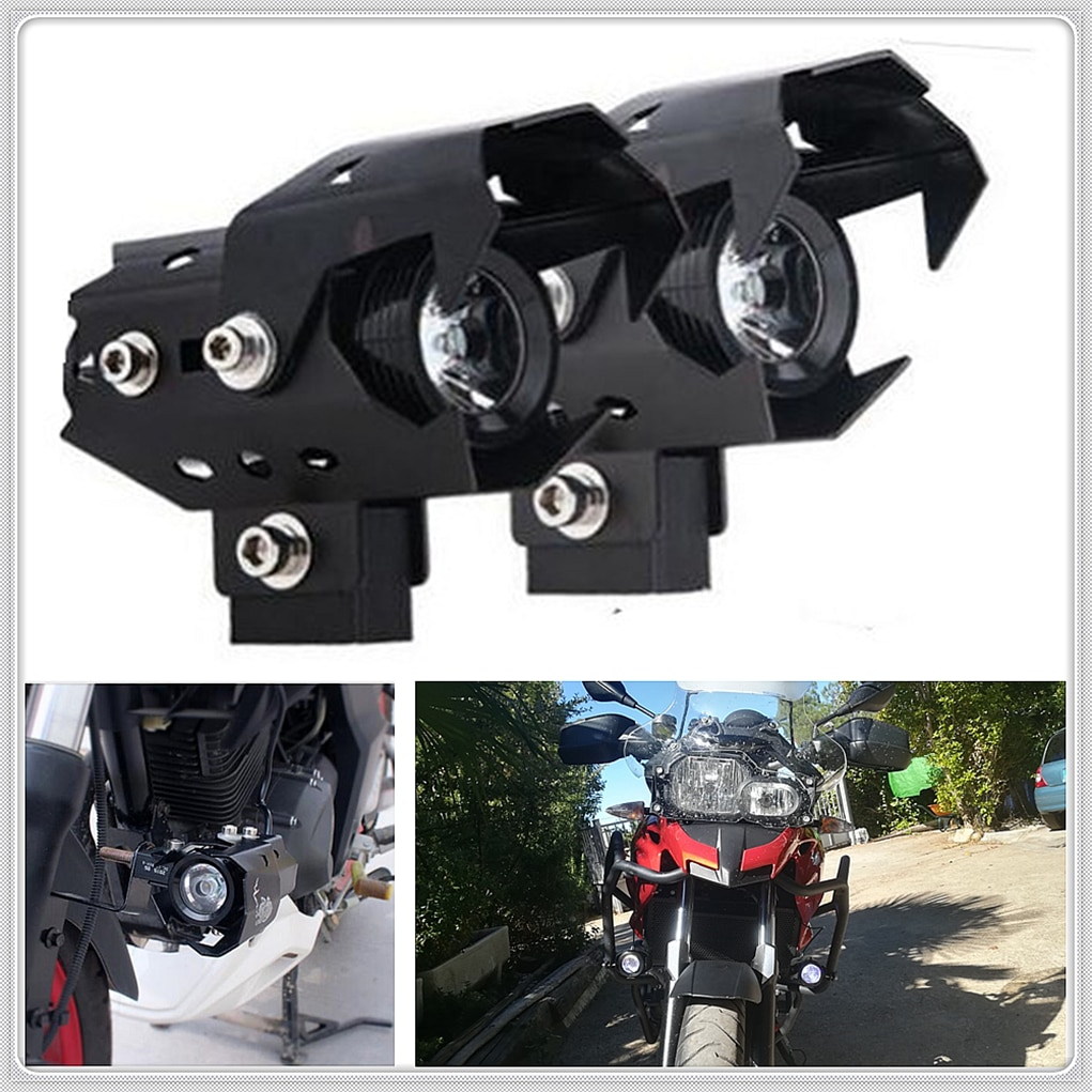 Faro LED antiniebla para motocicleta, faro delantero para BMW K1200S K1300 S/R/GT S1000RR HONDA CBR125R CRF250R