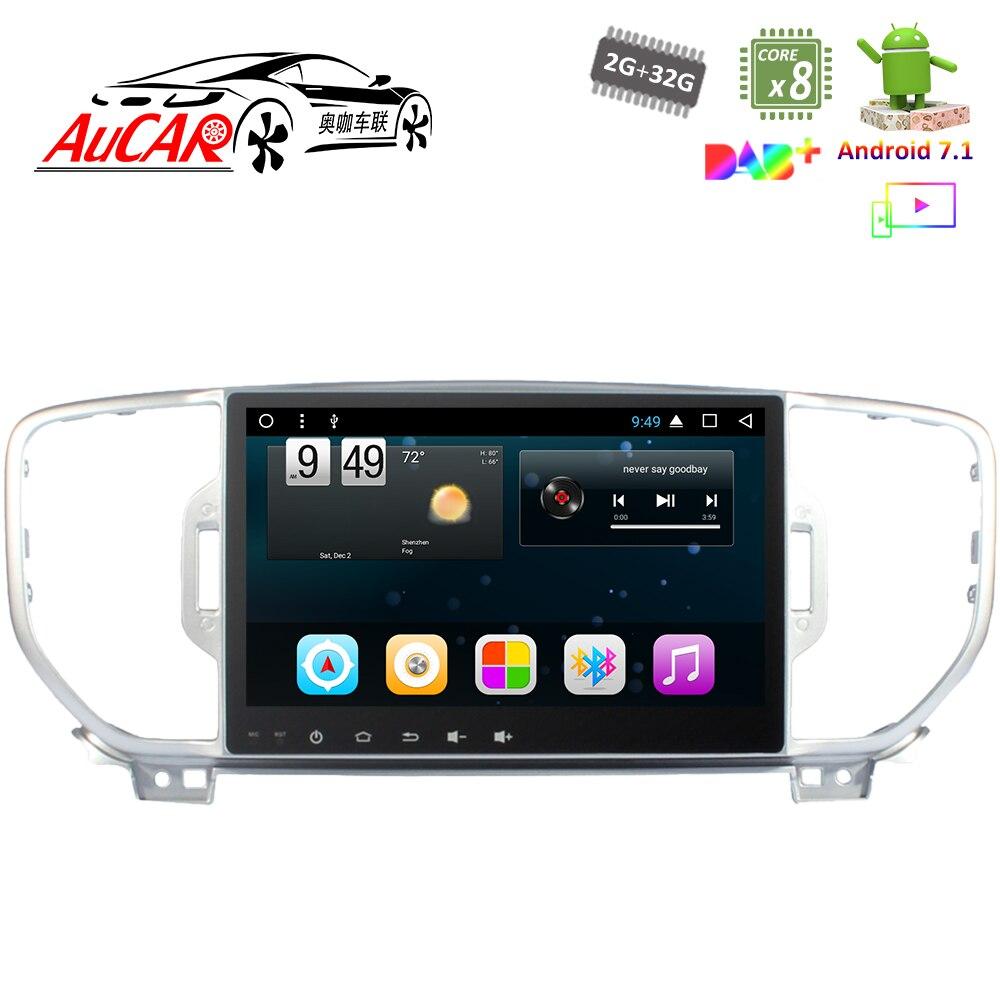 """Android 7,1 9 """"reproductor de DVD del coche GPS sistema de navegación para Kia Sportage KX5 2016 HD 2017 Radio Bluetooth WIFI 4G IPS"""