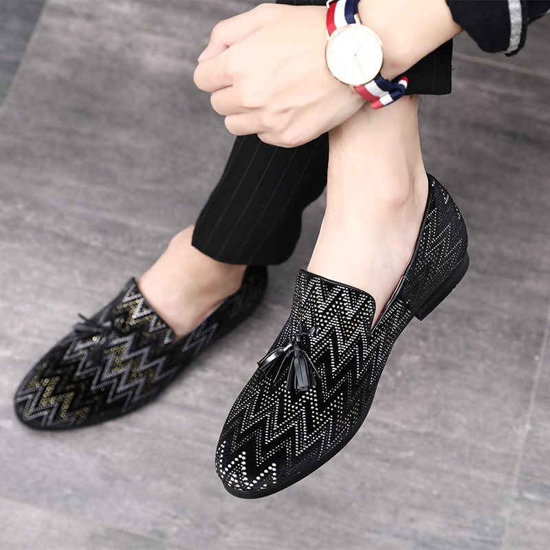 Zapatos formales con borlas 2020, calzado para hombre, talla 37-48, zapatos informales de cuero para boda o fiesta, zapatos con puntera
