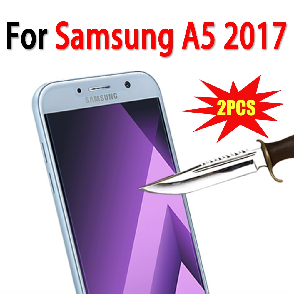 2PCS A5 2017 Protective Glass For Samsung Galaxy A5 2017 Tempered Glass for Samsung A5 2017 Screen P
