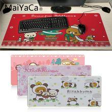 MaiYaCa offres spéciales mignon rilakkuma ours noël grand tapis de souris PC ordinateur tapis en caoutchouc naturel jeu tapis de souris tapis de bureau
