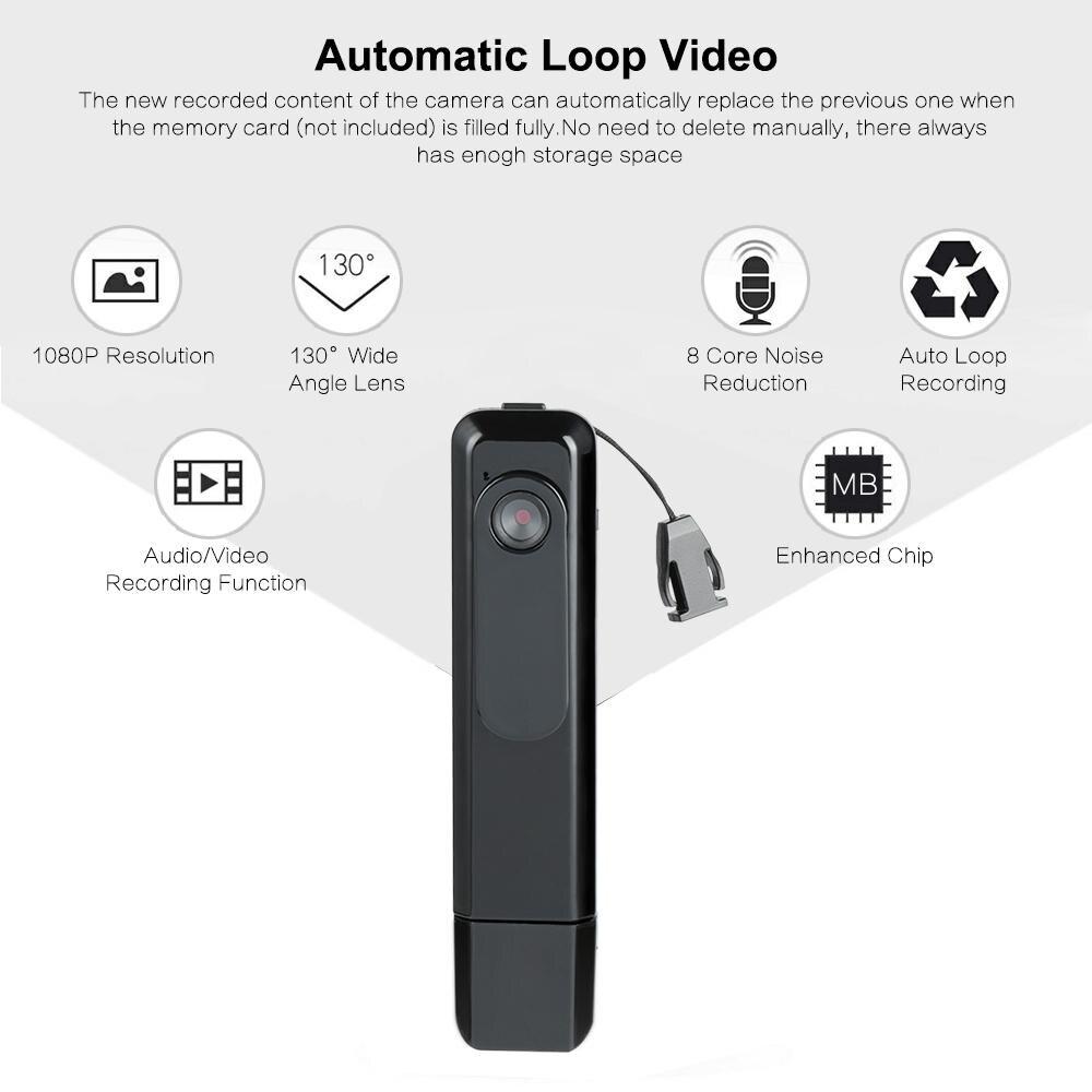 C181 Mini Câmera 1080 HD H.264 Câmera Da Pena Gravador de Voz Mini DV Camcorder DVR Micro Câmera de Carregamento Mini Câmera DV