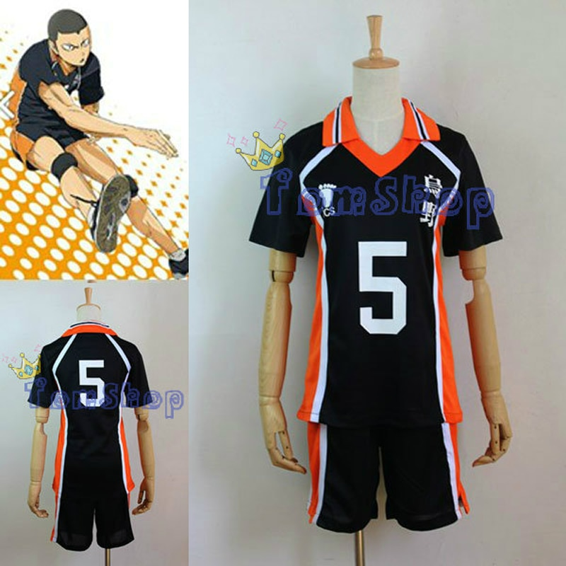 Anime Haikyuu!! Karasuno High School #5 Esportes de Vôlei Clube Ryunosuke Tanaka Jersey Cosplay Uniforme Desgaste M L XL XXL