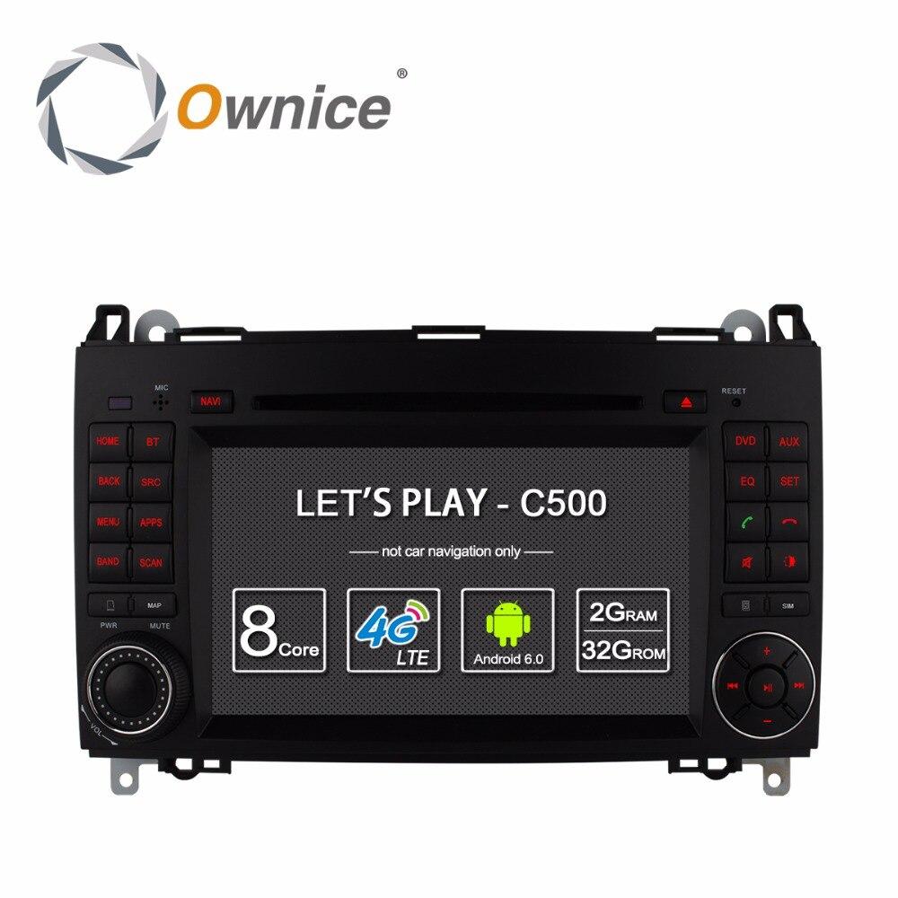 HD 1024 reproductor de DVD para coche Android 6,0 para Mercedes Benz B200 W169 A160 Viano Vito GPS Radio DAB estéreo Octa 8 Core CPU 2GB RAM